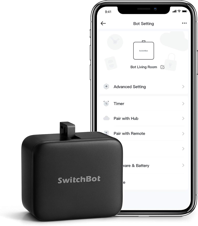 SwitchBot allume et éteint mécaniquement tout interrupteur et bouton, minuteur programmable, contrôlés...