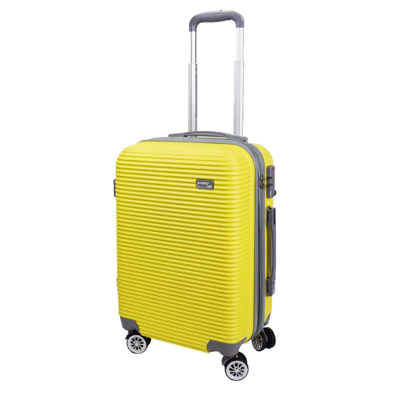 【神戸リベラル】 BAGING 軽量 拡張ファスナー付き S,M,Lサイズ スーツケース キャリーバッグ 8輪キャスター TSAロック付き B07BLTJ176 Lサイズ(長期用 85/95L)|イエロー イエロー Lサイズ(長期用 85/95L)