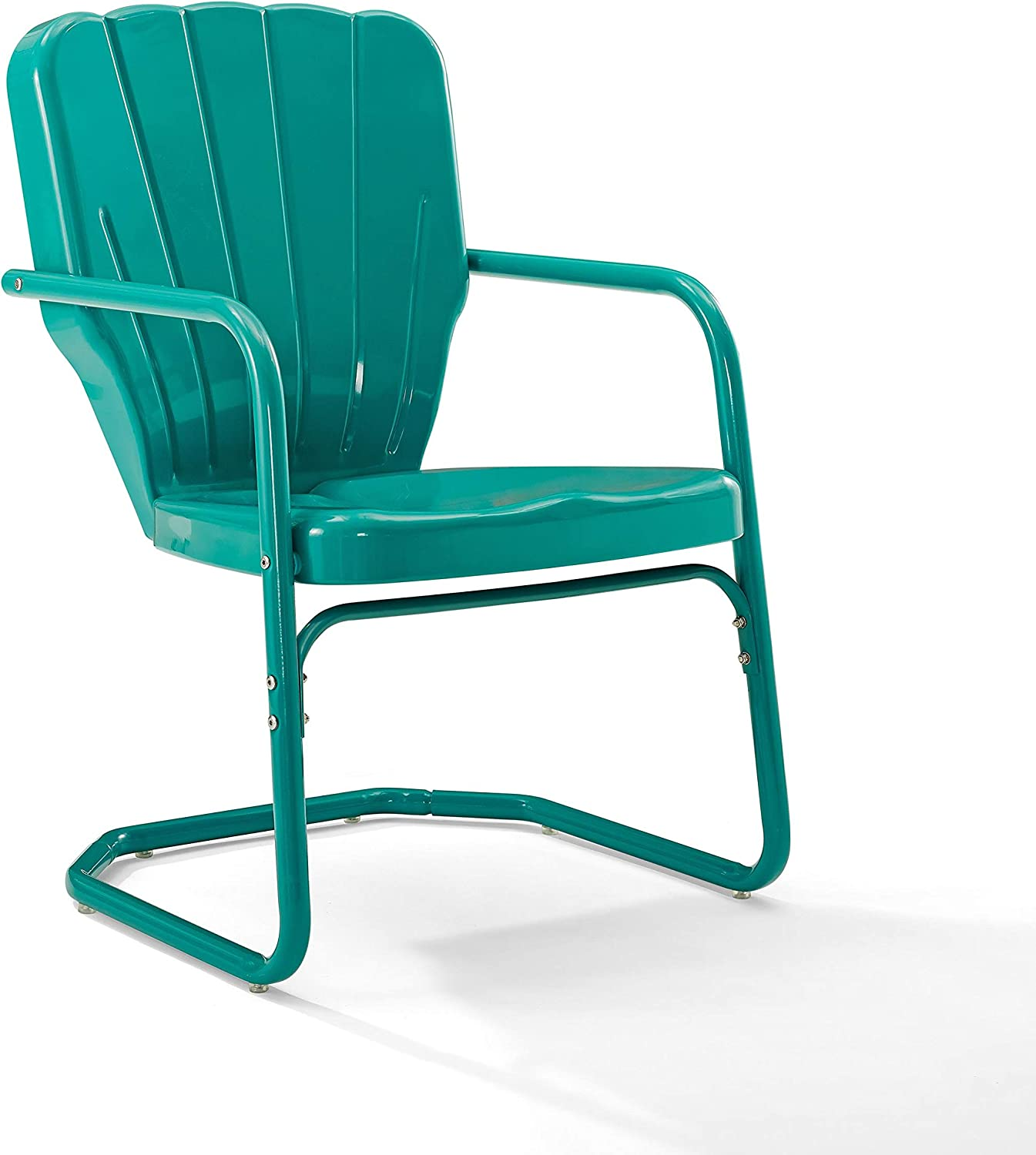 Crosley Furniture CO1031-TU Ridgeland Retro Metal Chair, Turquoise