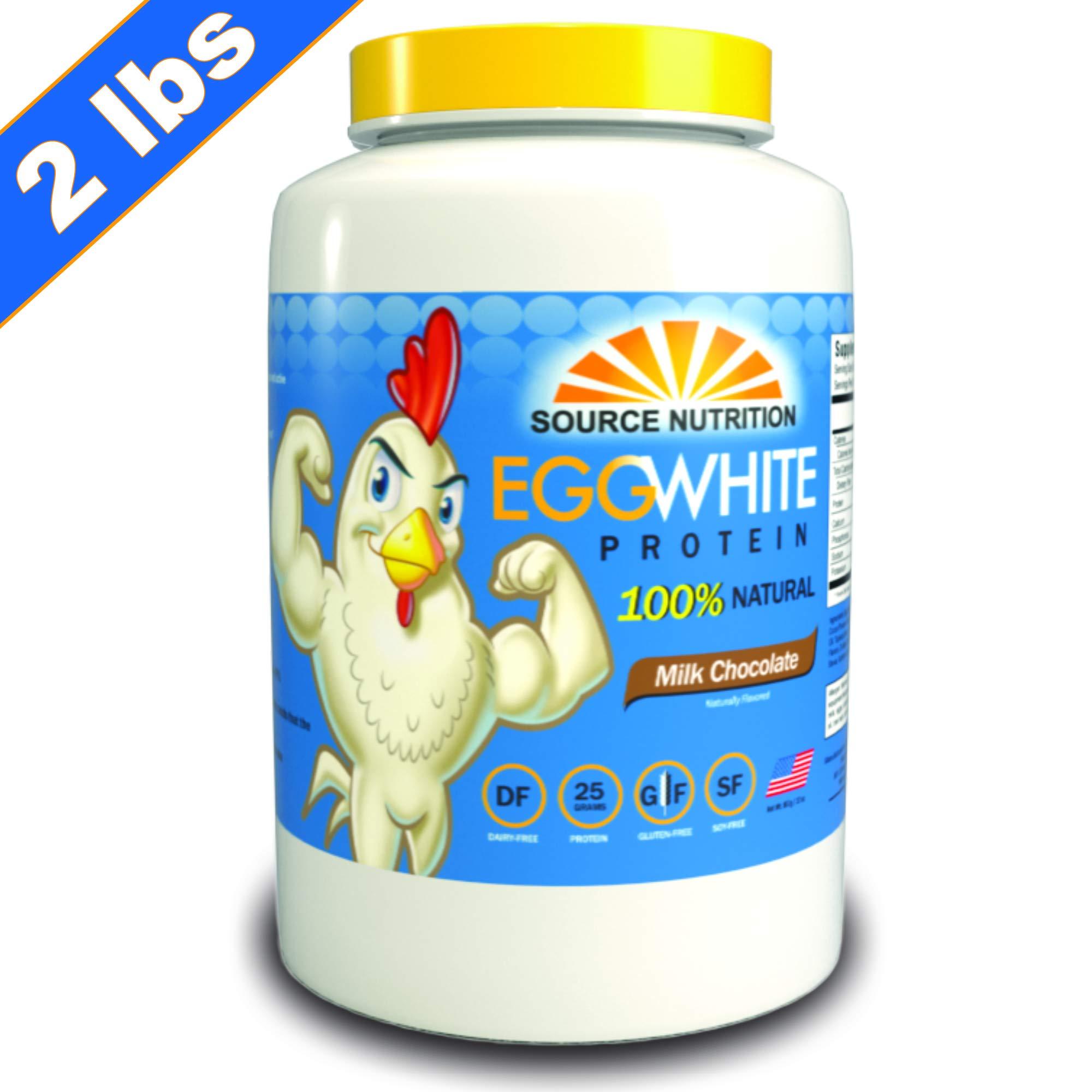 Egg White Protein Powder | All Natural Ingredients - 25g Protein, No Fat or Cholesterol, Zero Sugar - 2 Pound (Milk Chocolate) - Dairy Free Protein by TradeKing