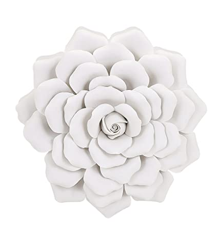 Amazon imax 83334 evington porcelain wall flower medium white imax 83334 evington porcelain wall flower medium white mightylinksfo