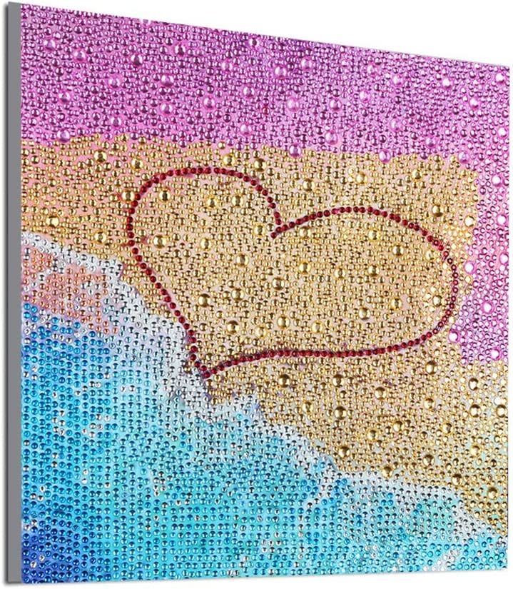 ZSNUOK 5D DIY Diamond Painting Kits for Adults or Kids Full Crystal Drill Embroidery Cross Stitch Mosaic Making Supplies Canvas Art for Home Decor Beach Cat 10X12 inches
