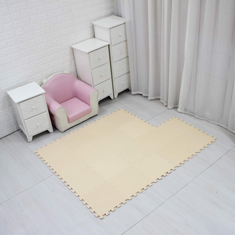 Jigsaws Puzzle Board Portable Foldable Black /& Green qqpp Mat,Soft EVA Foam Baby Play Mats For Floor QQC-DHb18N 18 Tiles 30*30*1cm