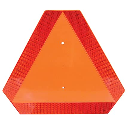 Amazon.com: Deflecto Slow Moving Vehicle Sign with Reflective Tape on orange industrial fan, orange golf carts, stockton industrial cart, orange industrial chair,