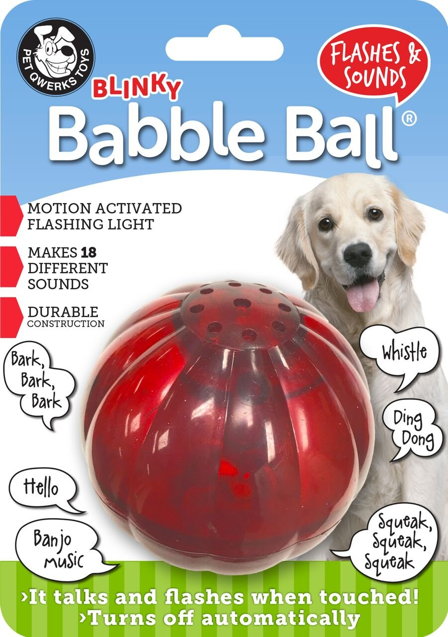 Pet Qwerks Blinky Babble Interactive Dog Toy, Flashes & Talks When Touched