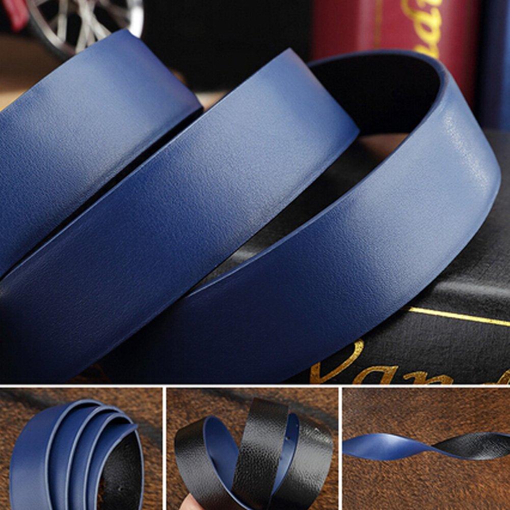 Blue Casual Mens Artificial Leather Belts Bales Catch Fashionable Joker Belts