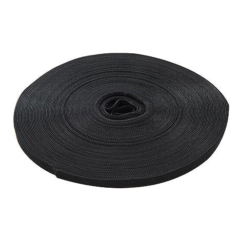 FIXMAN 684180 Selbstklebendes Klettband schwarz 25 mm x 5 m