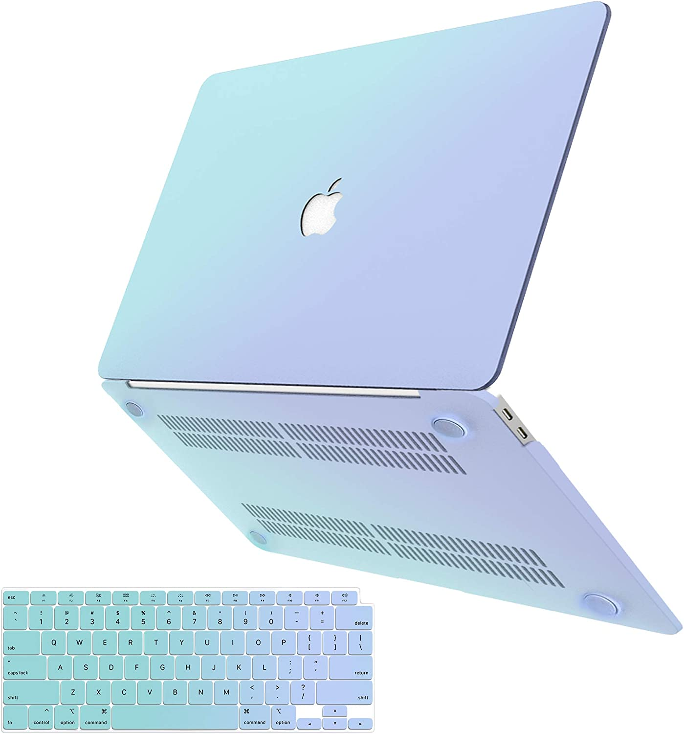 MacBook Pro 13 Inch Case 2020 2019 2018 2017 2016 A2251 A2289 A2159 A1706 A1989 A1708, G JGOO MacBook Pro 2020 Case, Hard Shell Case + Keyboard Cover for Mac Pro 13 with/Without Touch Bar, Blue Green
