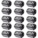 Bluecell Pack of 15 Magnetic Ferrite Core Cord RFI EMI Noise Suppressor Cable Clip (13mm inner diameter) by Bluecell World
