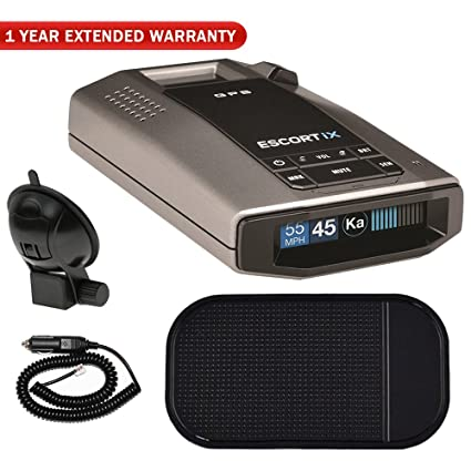 Amazon.com: Escort iX Long Range Radar Laser Detector with OLED Display (0100028-1) with Car Mat Bundle: Car Electronics