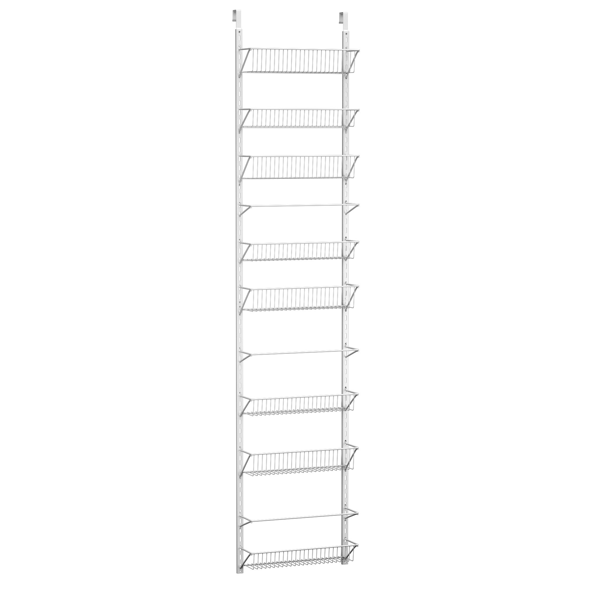 Home-Complete HC-2301 Over The Door Organizer-Space Saving Hanging Storage Shelves for Kitchen, Pantry, Closet-for Spices, Jars, Cleaning Products, White