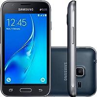 """Smartphone Samsung Galaxy J1 Mini Duos Preto com Dual Chip, Tela 4.0"""", 3G, Câmera de 5MP, Android 5.1 e Processador Quad Core de 1.2 GHz J105M"""