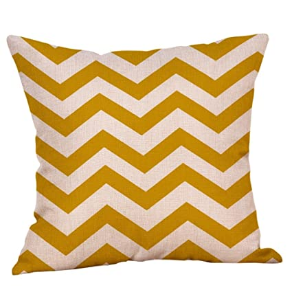 Amazon.com : Hongxin Funda Cojin 45x45cm Mustard Pillow Case ...