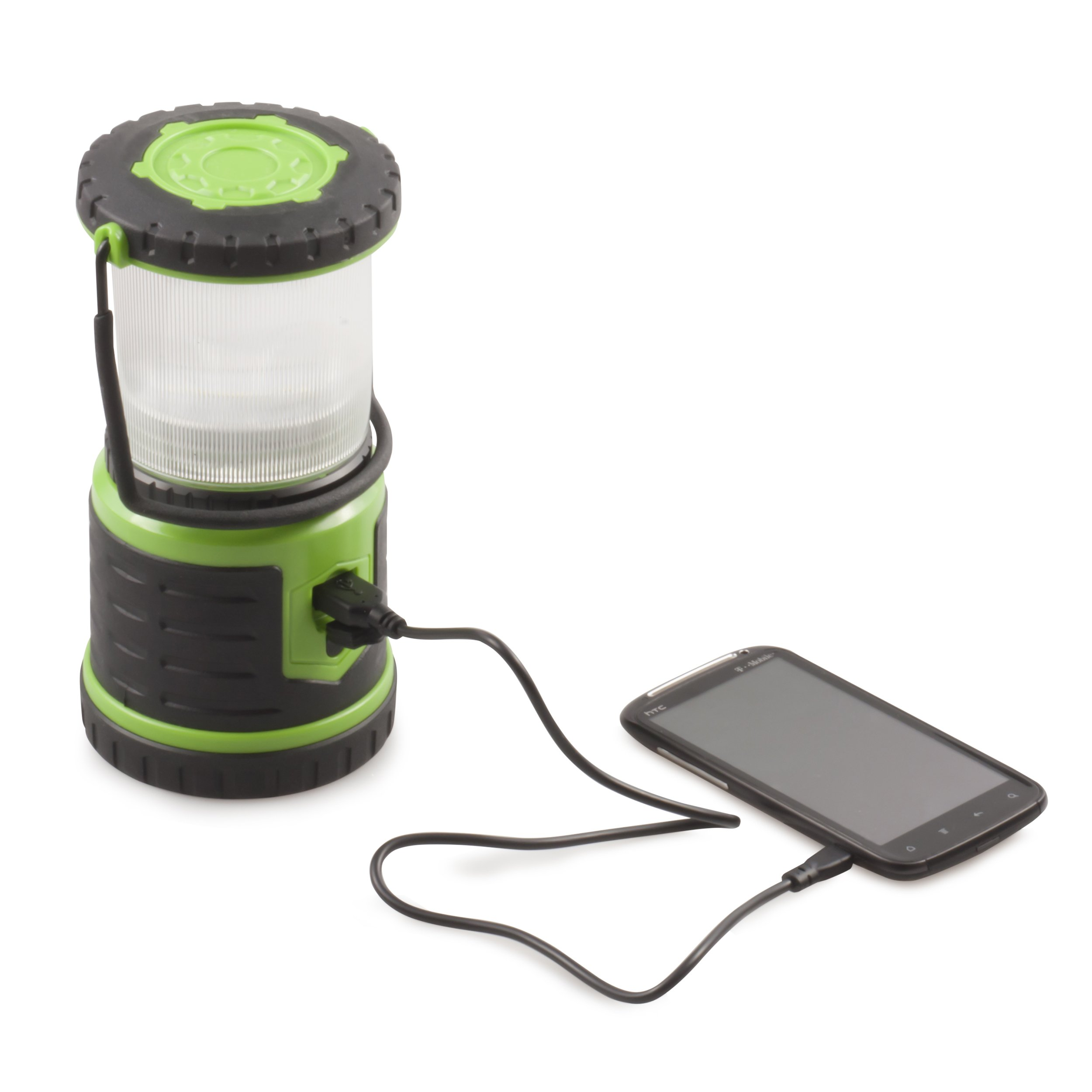 Blazin' Bison Brightest Rechargeable LED Lantern | 400 Hour Runtime | Phone Charger | Hurricane, Emergency, Storm (400 Lumen, Green) by Blazin' Bison (Image #3)