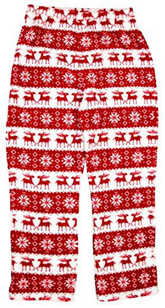 Girls Holiday Reindeer Fleece Pajama Pants