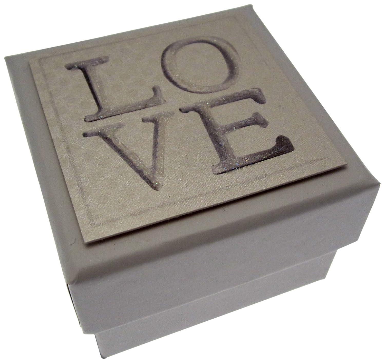 White Cotton Cards 5,5 x 5,5 cm-en bo/îte Cadeau Inscription Love
