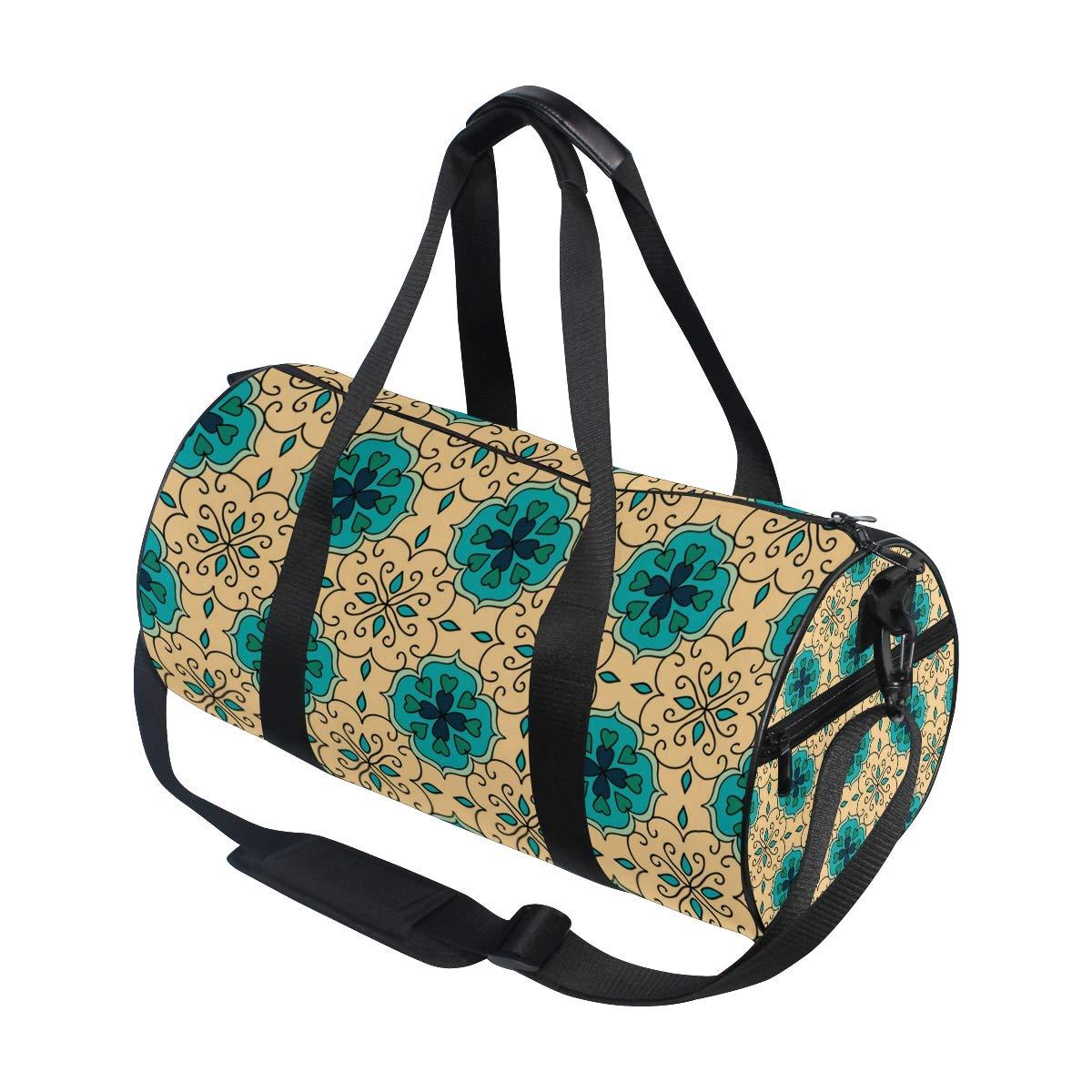 Yellow Green Ceramic PictureWaterproof Non-Slip Wearable Crossbody Bag fitness bag Shoulder Bag
