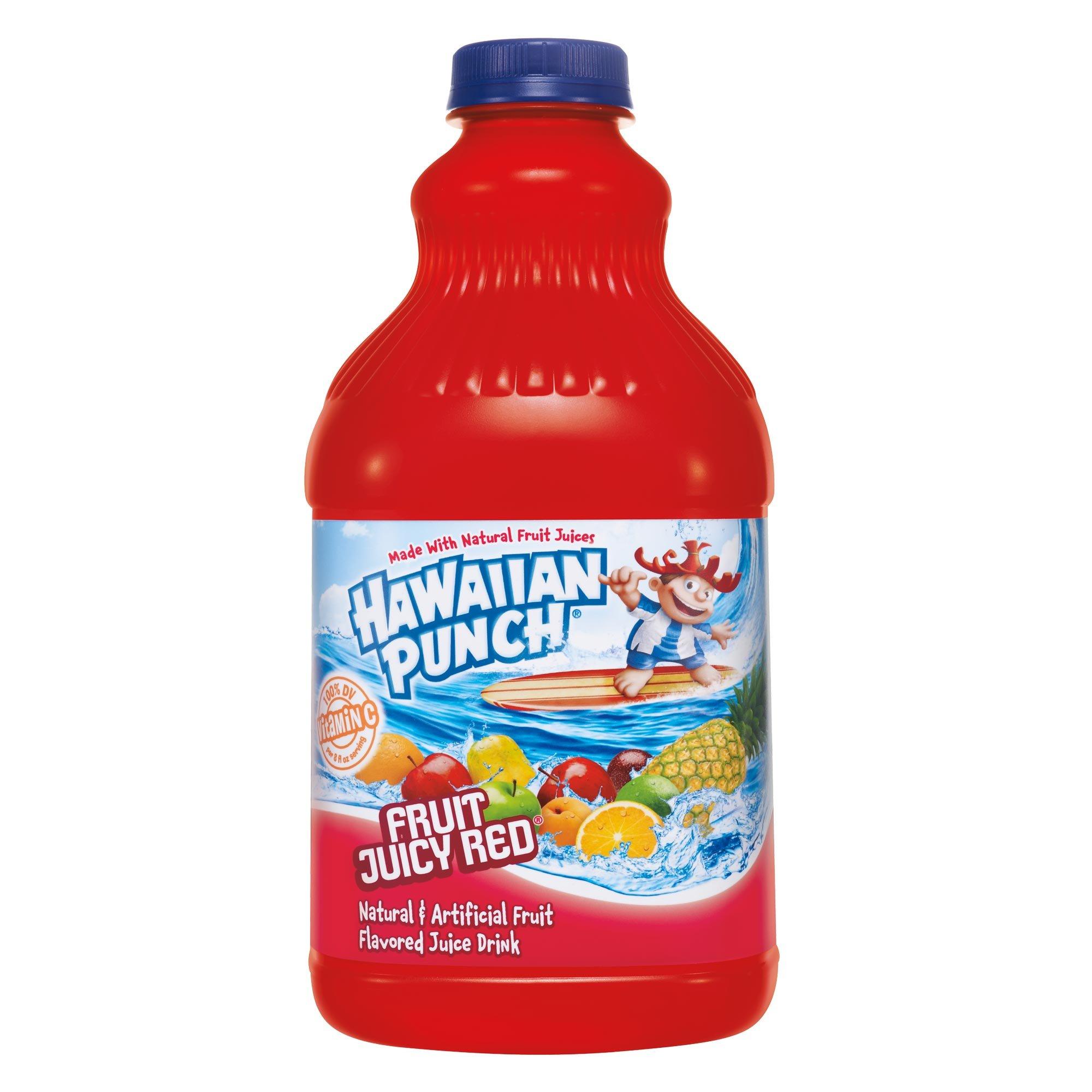 Mott's Hawaiian Punch Fruit Juicy Red, 64-Ounce Bottles (Pack of 8)