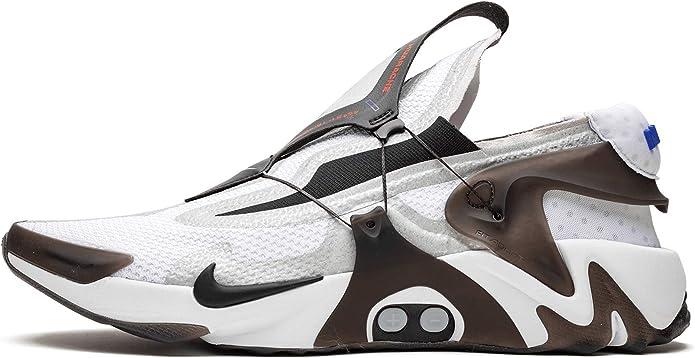 Nike Adapt Huarache (White/Black-Bright Crimson 11)