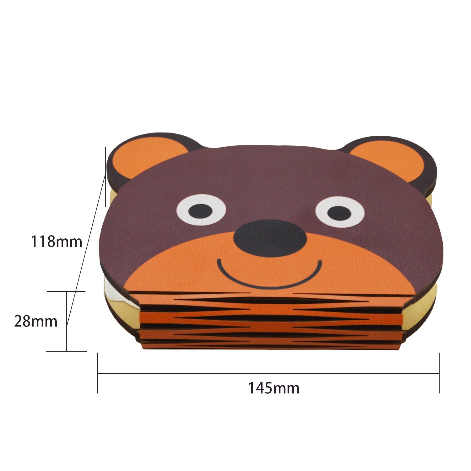 Folding LED Book Light, USB Rechargable Book Shaped, Desk Table Lamp for Decor, Creative Gift for Kids(Bear) by BMQ (Image #2)