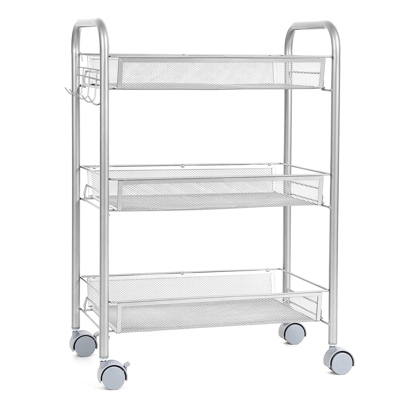 HOMFA Küchenwagen - Platzsparender Rollwagen