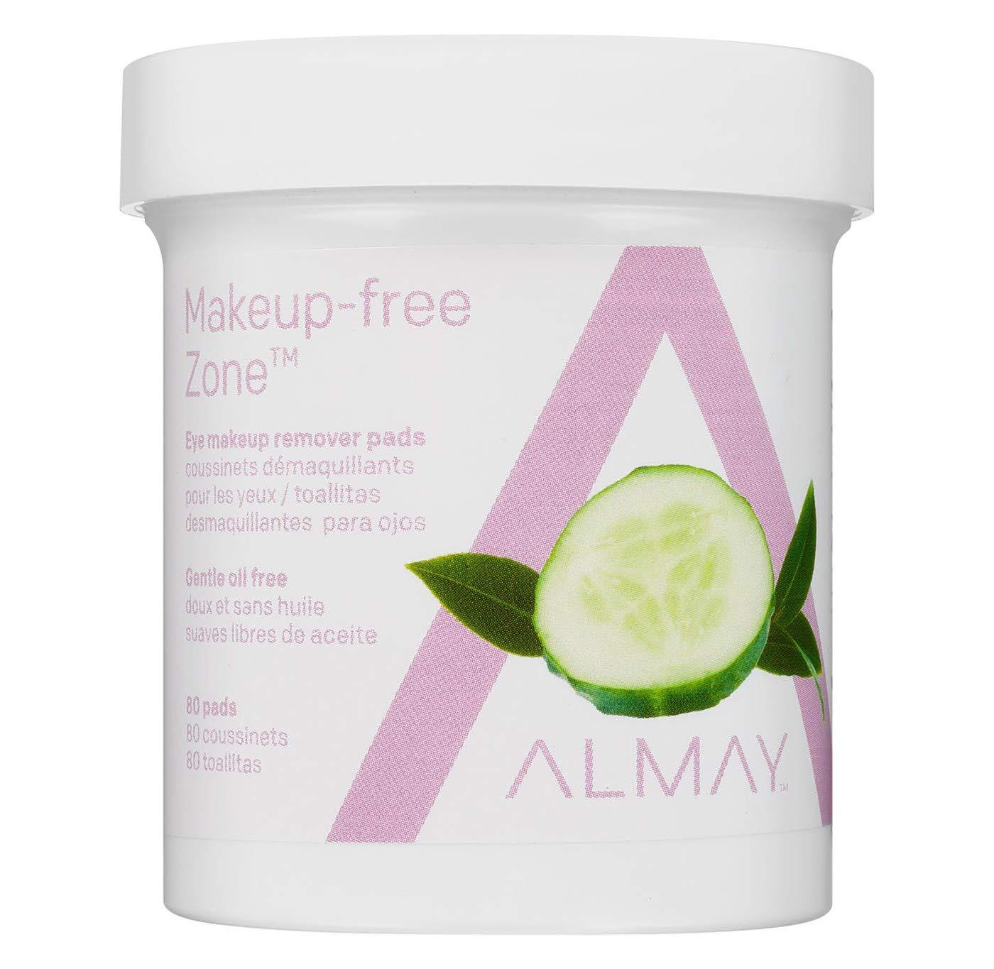 Almay Gentle Eye Makeup Remover Pads Oil Free -- 80 Pads by Almay Cosmetics: Amazon.es: Salud y cuidado personal