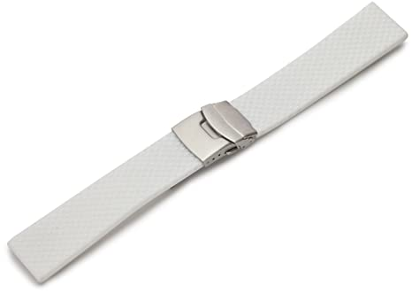 09ed65c260f Image Unavailable. Image not available for. Color  Hadley-Roma Men s  MS3367RT 220 22-mm Genuine Silicone Diver Sport Watch Strap