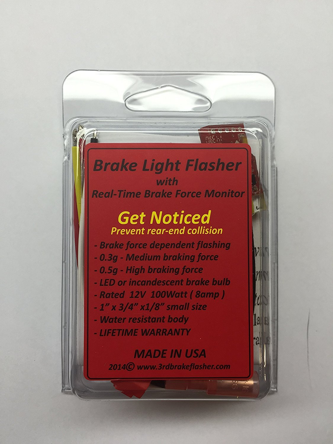 Car Or Motorcycle Brake Light Flasher Module With Real Check For 12v At The Lg Wire Stoplamp Switch On Pedal Time Force Monitoring Fully Configurable Fits Any Automotive