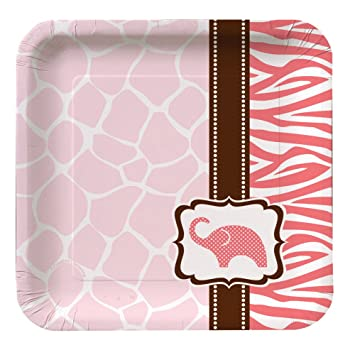 Creative Converting Baby Shower Wild Safari Pink 8 Count Paper Lunch Plates  sc 1 st  Amazon.com & Amazon.com: Creative Converting Baby Shower Wild Safari Pink 8 Count ...