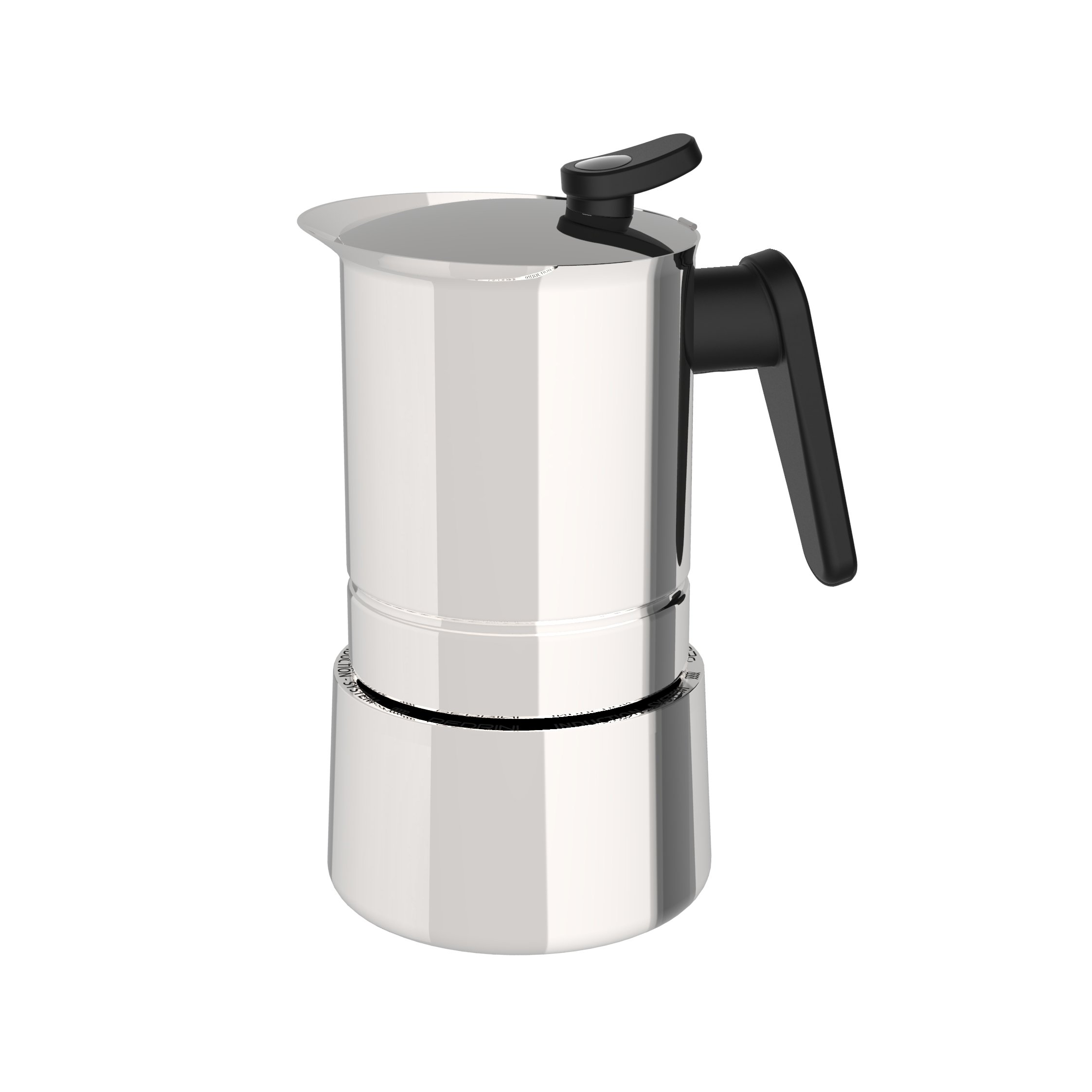 Pedrini 02CF039: 10 Cups Espresso Coffee Pot, Steel