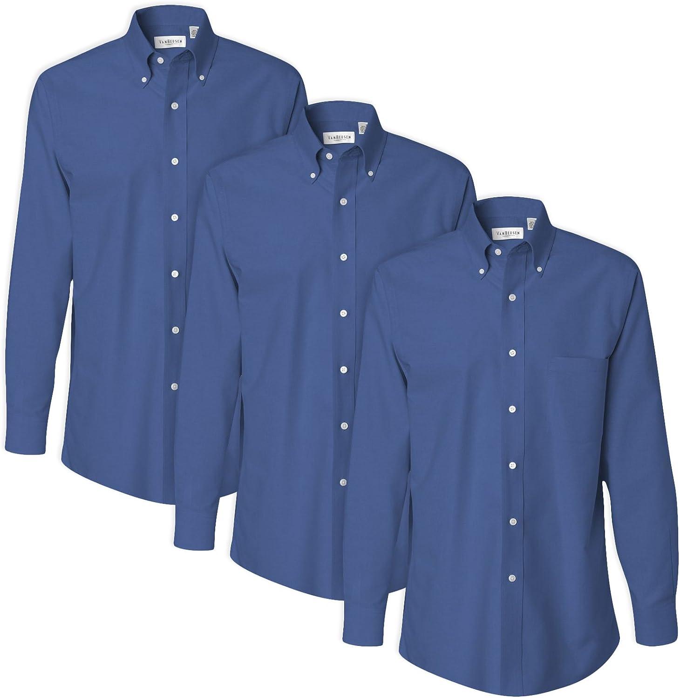 Van Heusen 13V0040 Camisa de vestir de manga larga para ...