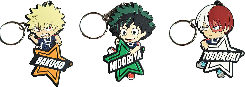 Izuku Midoriya Keychain Key Chain Ring Anime Manga My Hero Academia NEW