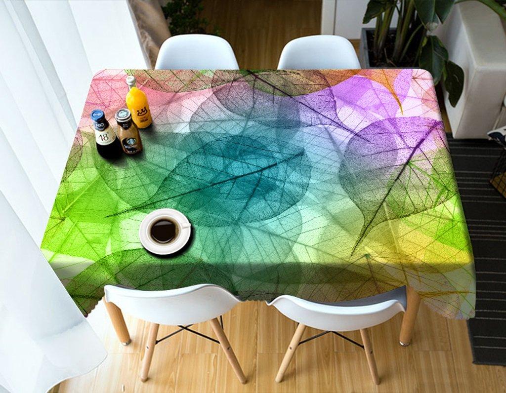 Ropa de Cocina Manteles rectangulares - 3D Landscape Series Tablecloth HD10 - Respetuoso con el Medio Ambiente y sin Sabor - Impreso digitalmente a Prueba de Agua (Tamaño : Rectangular -228cmx335cm)
