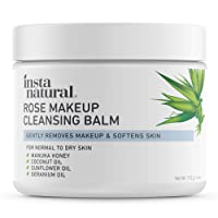 Rose Cleansing Balm – Natural Facial Cleanser & Makeup Remover with Coconut Oil...