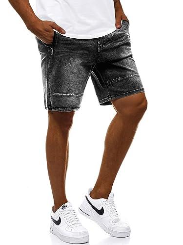 Kurzhose Shorts Jeanshose Bermudas Jeans Sommer Freizeit OZONEE RF//HY322 Herren