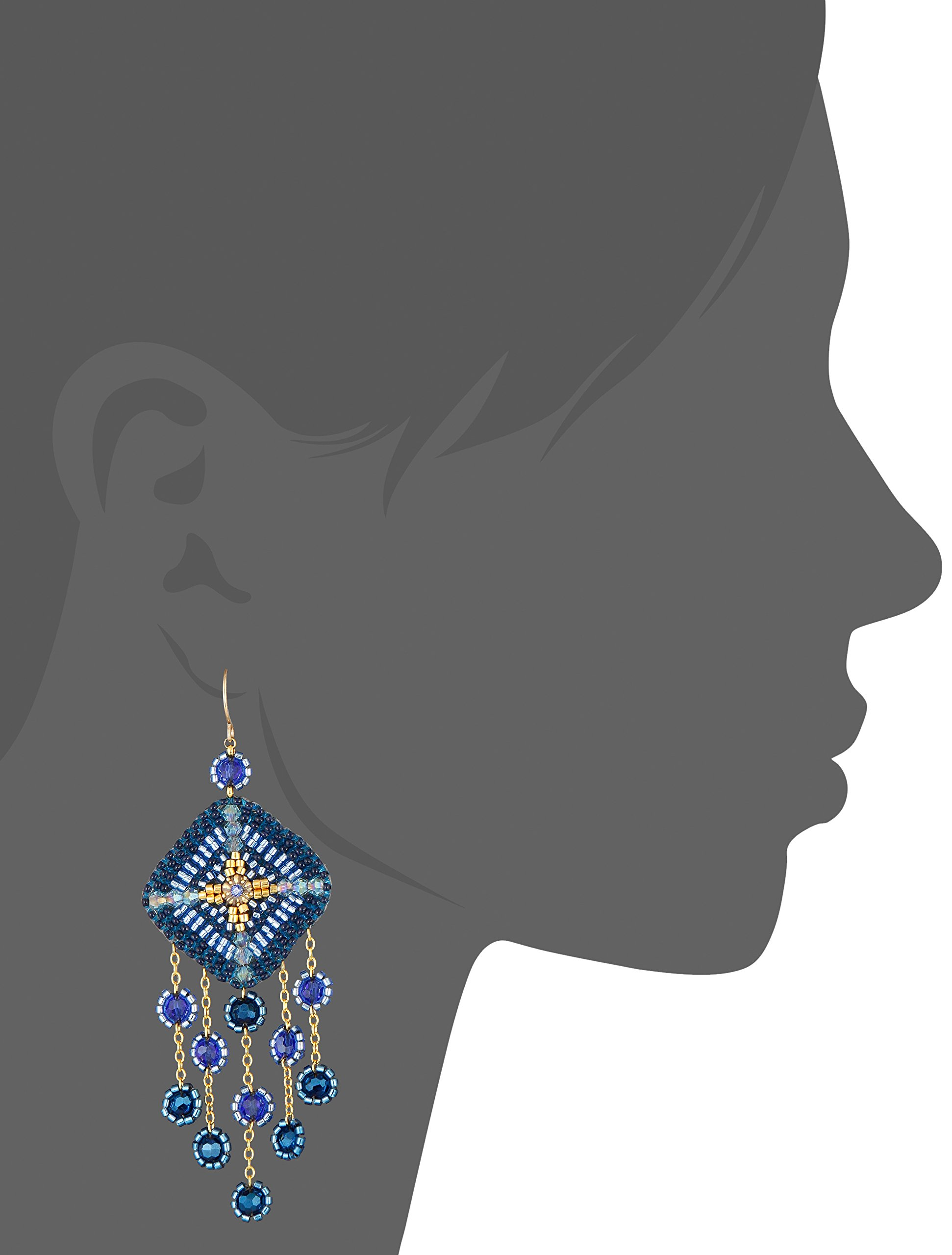 Miguel Ases Gold-Filled Multicolored Beaded Drop Earrings by Miguel Ases (Image #2)
