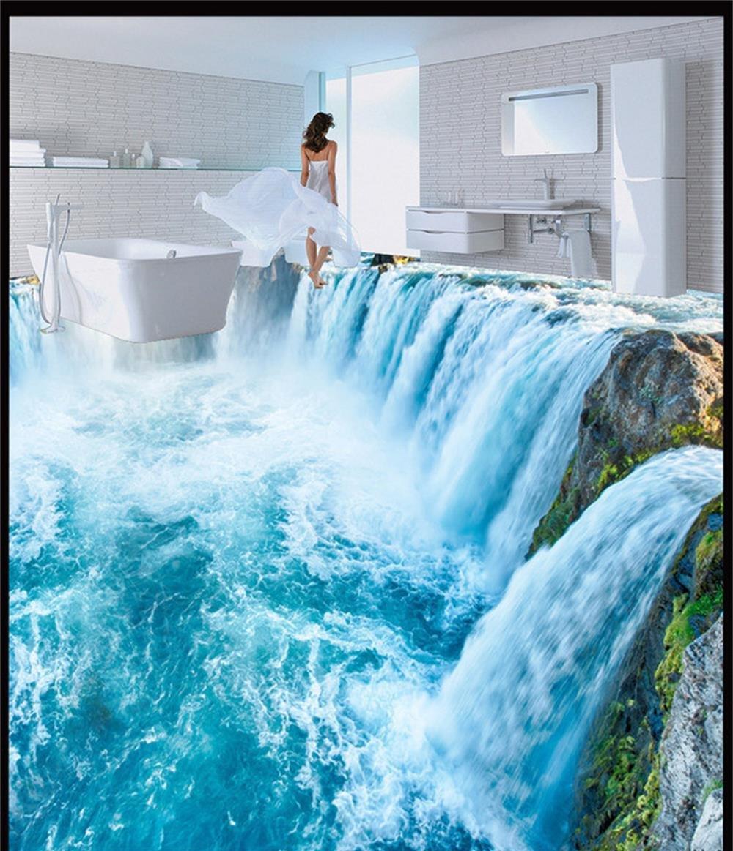 300cmX250cm Custom 3d PVC wallpaper photo wallpaper Ultra clear waterfalls sitting room mural all over the kitchen floor wallpaper