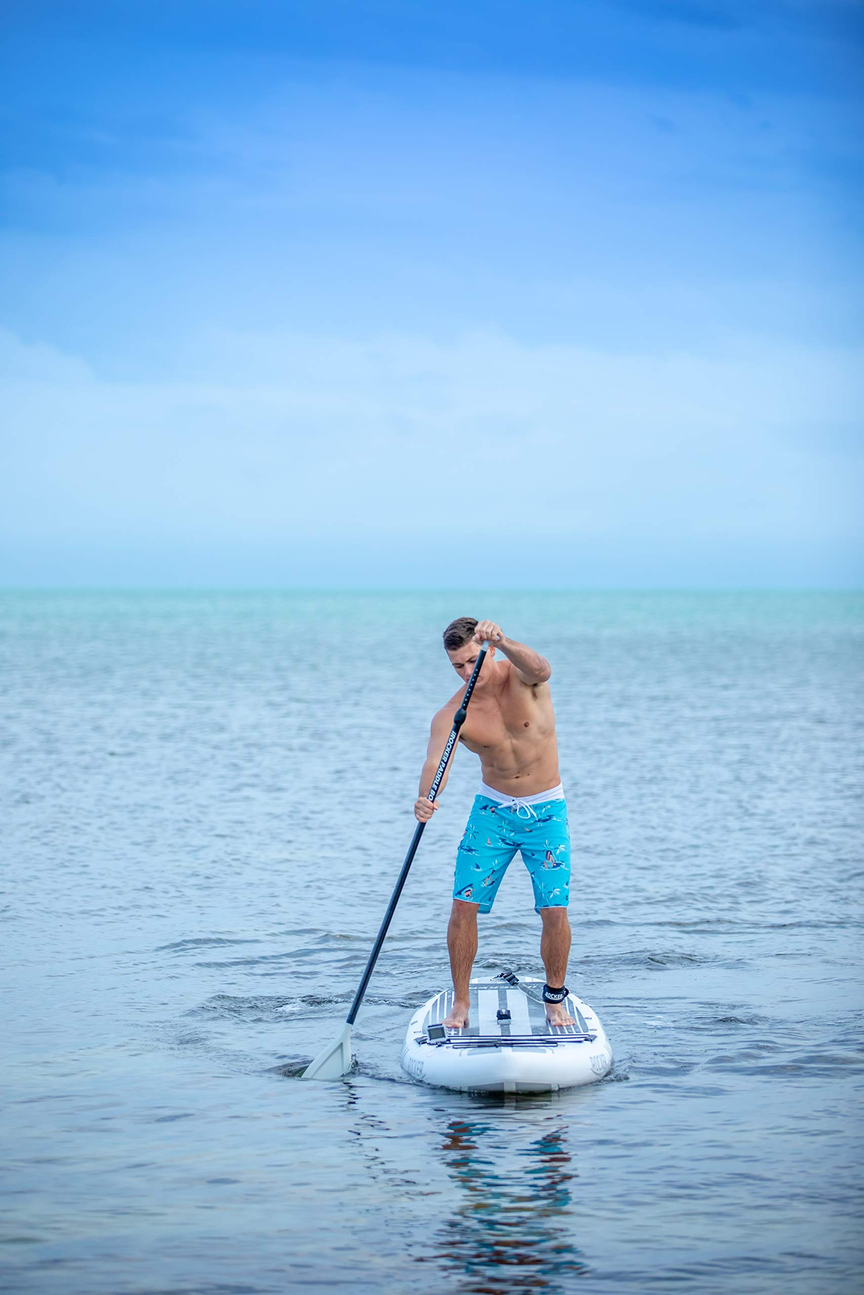 iROCKER All-Around Inflatable Stand Up Paddle Board 11' Long 32'' Wide 6'' Thick SUP Package (White 2019) by iROCKER (Image #3)