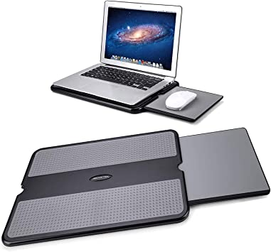 Laptop Lap Stand w Retractable Mouse Tray and USB Fan New MAX SMART Laptop Tray