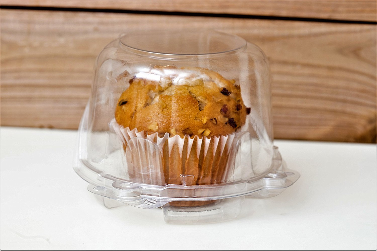 Clear Plastic Dome Muffin/Jumbo Cupcake Holders, Single Compartment- Pack of 50. (Clear, Large) by CulinWare (Image #3)