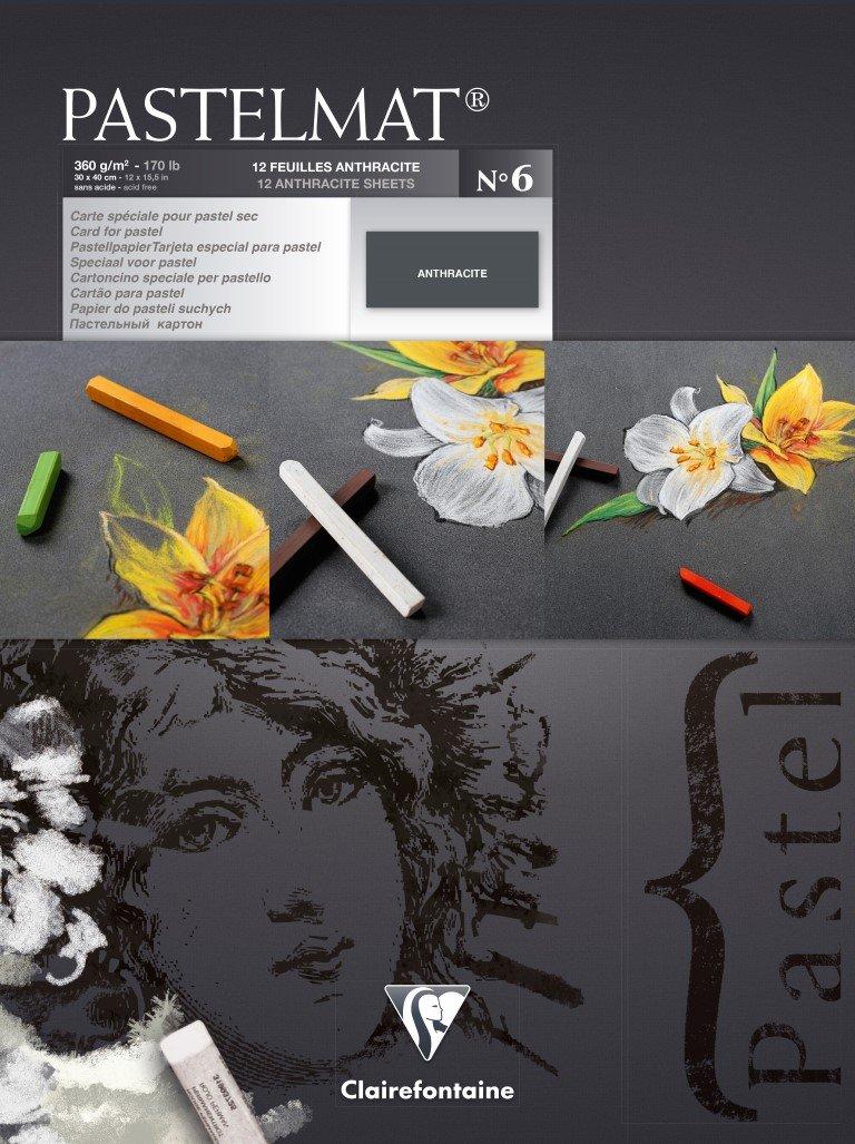 Clairefontaine 96018C Zeichenblock Pastelmat (12 Blatt, 30 x 40 cm, 360 g, mit 4 transparenten Trennblättern, Spezielkarton ideal fur Pastell und Kreide) hellgelb, gelb, dunkelgrau und hellgrau B071R2WBDL  | Förderung