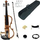 Kinglos 4/4 Colorato In Legno Massello Professionale Elettrica / Silenzioso Violino Kit Raccordi Ebano - MWDS1903