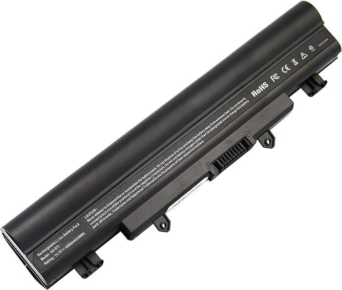 ARyee ACER E5-571 Battery for Acer Aspire E1-571 E5-571 E5-411 E5-421 E5-511 E5-521 V3-472 V3-572 E14 E15 Touch Extensa 2509 2510 Travelmate P246 TMP246 Fit AL14A32 KT.00603.008 3ICR17/65-2[11.1V 4400