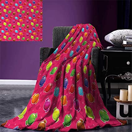 Colorful Throw Blankets Amazing Amazon Colorful Throw Blanket Children Cartoon Style