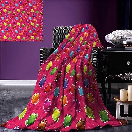 amazon com colorful throw blanket children cartoon style