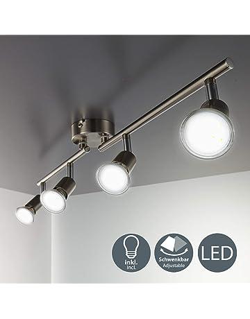 Briloner Leuchten LED Ceiling Spotlight 3-Bulb Pivotable Spotlight 3X GU10 5 Watt 460 Lumen 3,000 Kelvin Black
