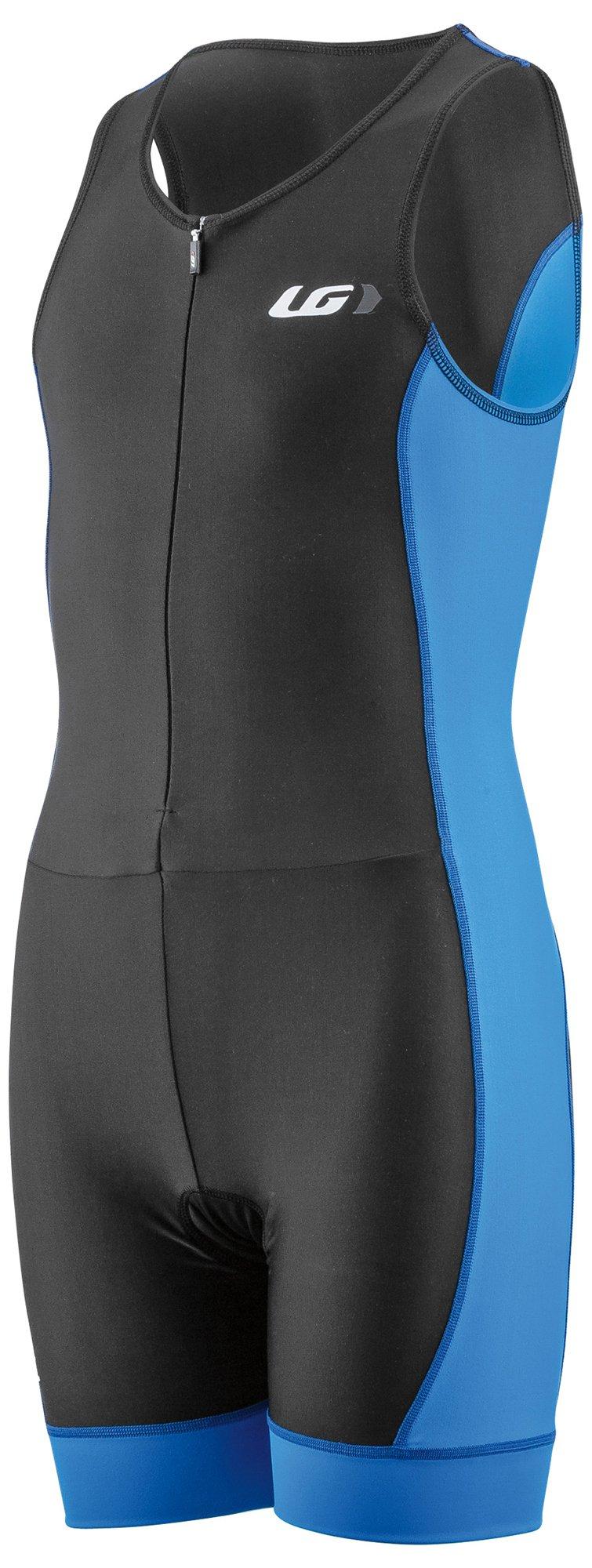 Louis Garneau Kids Comp 2 Sleeveless, Padded Triathlon Cycling Suit, Curacao Blue, Junior X-Small