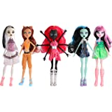 ONEST 5 Sets 11 Inch Monster Girl Dolls Include 5 Pieces Girl Monster Dolls, 5 Pieces Handmade Doll Clothes, 5 Pairs of Doll