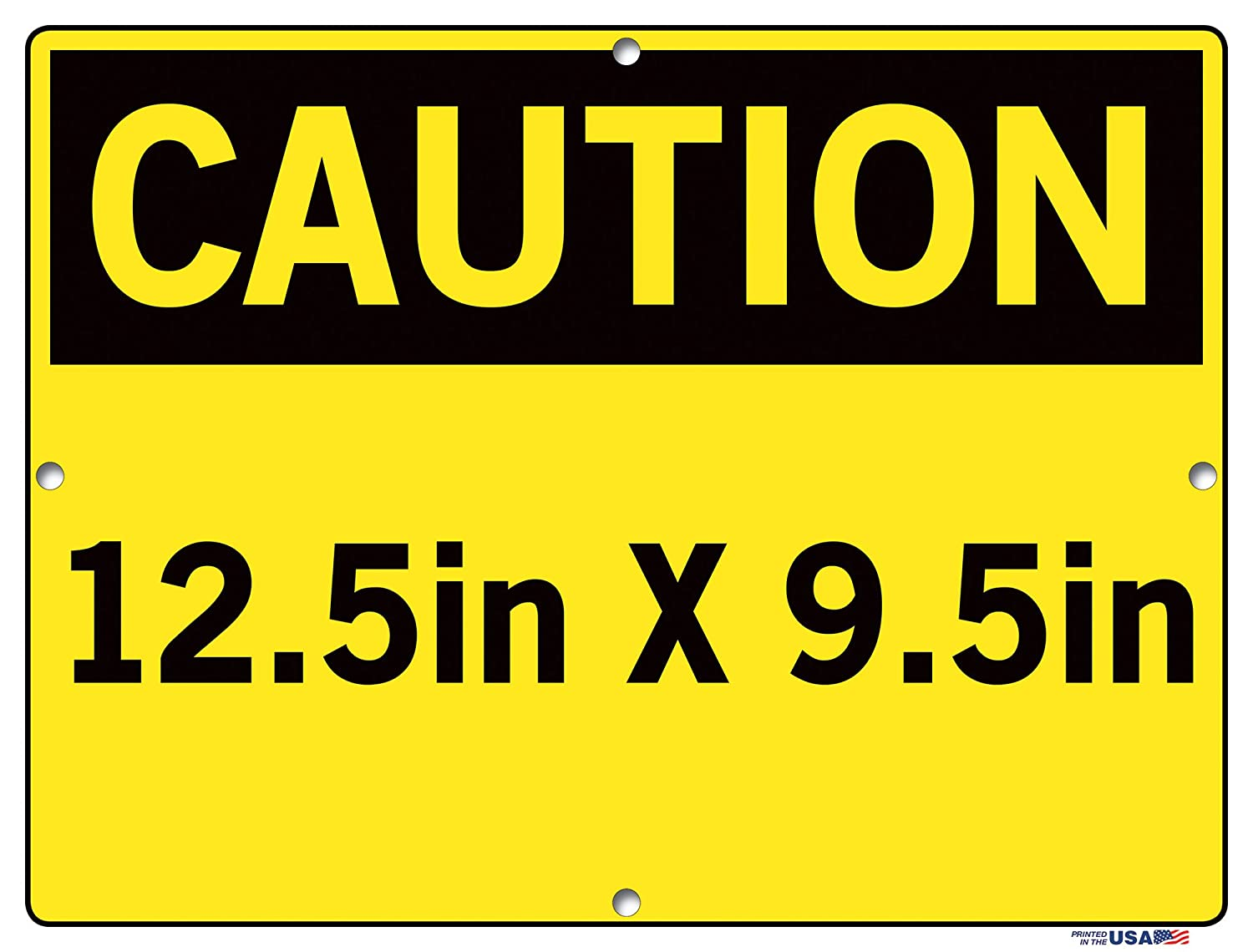 Vestil Caution Sign SI-C-76-B-AL-040-S Aluminum .040 Overall Size 12.5W x 9.5H Admittance to Authorized Personnel ONLY ADMISI/ÓN Solo A Personal AUTORIZADO