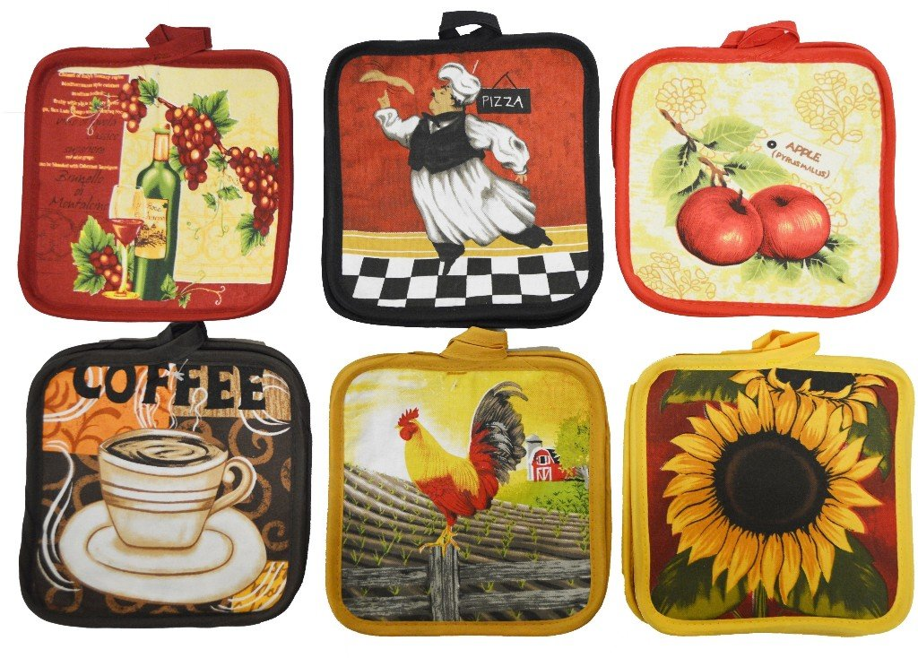 Cotton Valley 1930364 Printed Pot Holder - Pack of 2 - Case of 72 by Cotton Valley